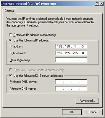 assigning dns server address