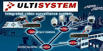 ULTISYSTEM - integration of analog cameras and IP devices <br />into one system