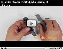 Insulation Stripper HT-332 - blades adjustment